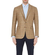 Ralph Lauren Linen And Silk Blend Tweed Jacket Brown And Tan W