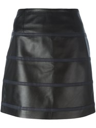 Sonia Rykiel By Short Leather Skirt Black