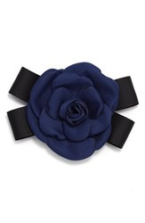 Cara Rose And Black Bow Pin Navy