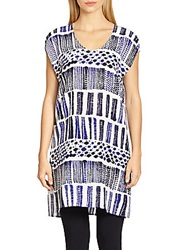 Max Mara Printed Silk Tunic White Multi