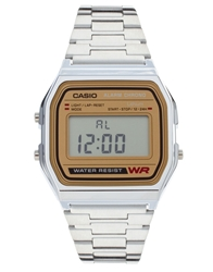 Casio Classic Retro Digital Watch A158wea 9Ef Silver