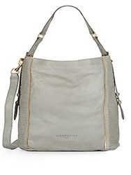 Liebeskind Elenor Leather Convertible Top Handle Bag Flint
