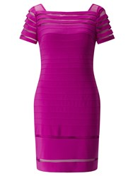 Adrianna Papell Jersey Bandage Dress With Mesh Details Purple