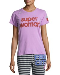 Freecity Super Woman Short Sleeve T Shirt Pink