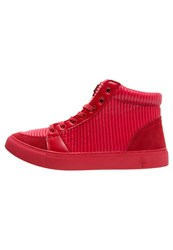 Criminal Damage Rocky Hightop Trainers Red