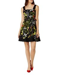 Karen Millen Belted Floral Print Dress Multicolour