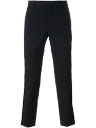 Lanvin Stitched Stripe Detail Trousers Black