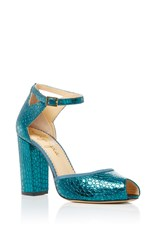 Charlotte Olympia Esther Open Toe Heels Blue