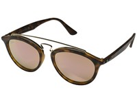 Ray Ban Rb4257 53Mm Matte Havana Frame Light Brown Mirror Pink Lens Fashion Sunglasses