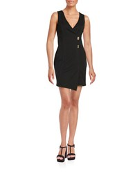 Jessica Simpson V Neck Stretch Dress Black