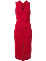 Dion Lee Bandage Back Fitted Dress Red