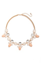 Bp Teardrop Statement Choker Necklace Pink Gold