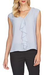 Women's Cece By Cynthia Steffe Ruffle Front V Neck Blouse Airy Blue