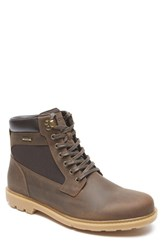 Rockport Men's 'Rugged Bucks High' Waterproof Boot Dark Brown