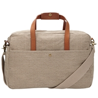 John Lewis Madison Canvas Flight Bag Putty