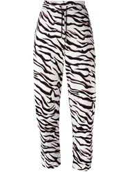 Kenzo 'Tiger Stripes' Track Pants White