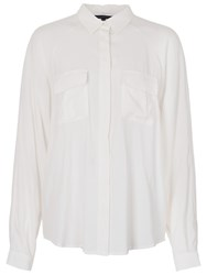 French Connection Spring Long Sleeve Shirt Summer White