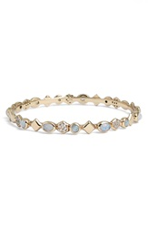 Melinda Maria 'Graham' Stone Bangle Moonstone Gold