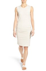 Women's James Perse Ruched Tank Dress Heather Natural
