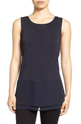 Nic Zoe Women's Chiffon Trim Tank Midnight