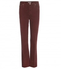 Alexa Chung For Ag Revolution Corduroy Trousers Red