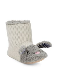 Kensie Faux Fur Lined Bunny Slippers