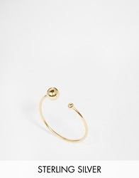 Asos Gold Plated Sterling Silver Fine Open Bead Ring