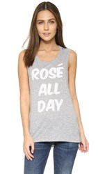 Private Party Rose All Day Tank Grey