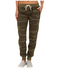 Alternative Apparel Eco Fleece Jogger Pant Camo Women's Casual Pants Multi