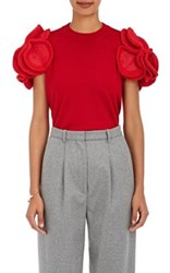 Comme Des Garcons Junya Watanabe Women's Wool Blend Cap Sleeve Sweater Red