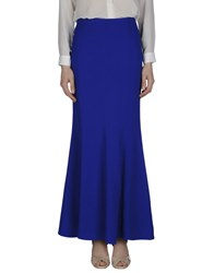 Space Style Concept Skirts Long Skirts Women Blue