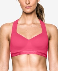 Under Armour Heatgear High Support Racerback Sports Bra Pink Sky