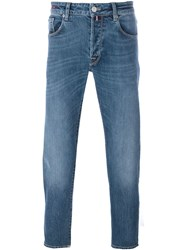 Pt05 Medium Wash Straight Jeans Blue