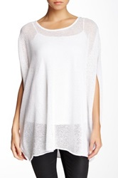 Planet Honeycomb Linen Blend Tee White
