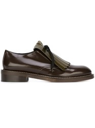 Marni Fringed Lace Up Derby Shoes Brown