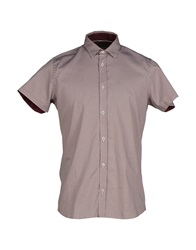 Duck And Cover Shirts Maroon