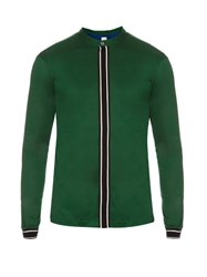 Paul Smith Stand Collar Cotton Jersey Shirt Green Multi