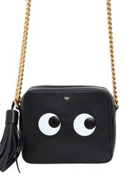 Anya Hindmarch Eyes Embossed Leather Crossbody Bag