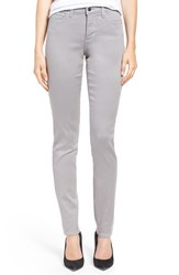 Nydj Women's 'Alina' Colored Stretch Skinny Jeans Chrome