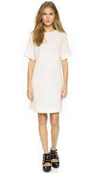 Pleated Front Dress Off White