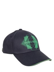 Hugo Boss Boss Green Logo Cotton Twill Baseball Hat