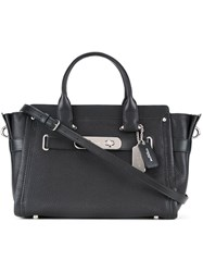 Coach Tag Detail Tote Black