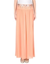 Pinko Skin Long Skirts Salmon Pink