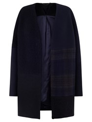Jigsaw Muted Check Patchwork Coat Multi