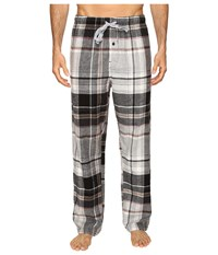 Kenneth Cole Reaction Printed Pants Morgan Plaid Grey Heather Men's Pajama Multi