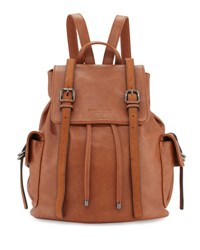 Cynthia Rowley Kyle Faux Leather Flap Backpack Nutmeg