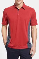 Men's Cutter And Buck 'Willows' Colorblock Drytec Polo Cardinal Red Onyx