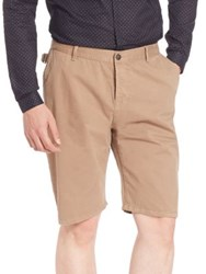 The Kooples Chino Type Shorts With Belt Loops Tan