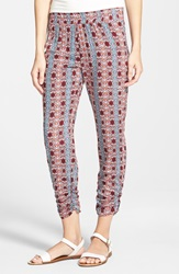 Dee Elle 'Aztec' Print Pants Juniors Red