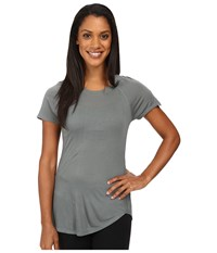 The North Face Initiative Short Sleeve Balsam Green Women's Short Sleeve Pullover Gray